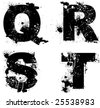 Grunge inked vector letters, see my portfolio for other letters. - stock vector