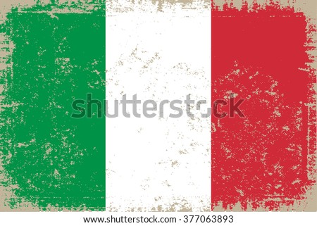 Grunge Italy flag.Vector flag of Italy.