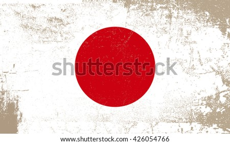 grunge japan flagjapanese flag grunge texturevector stock vector, Powerpoint templates