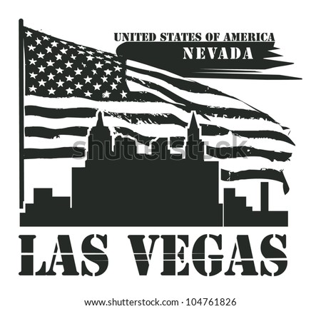 Grunge label with name of Nevada, Las Vegas, vector illustration