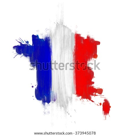 Grunge map of France with French flag - stock vector
