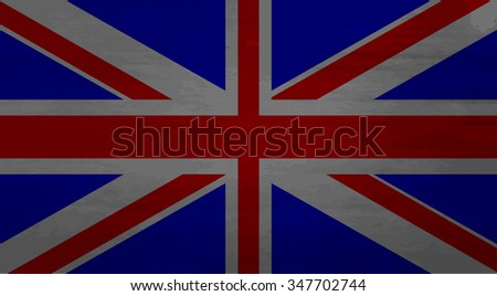 Grunge messy flag kingdom of Great Britain. Dirty national,  united uk. Vector art design abstract unusual fashion illustration