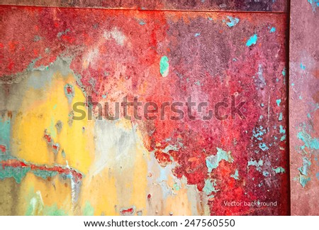 grunge metal texture, vector background - stock vector