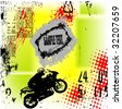 grunge motorcycle background vector - stock vector