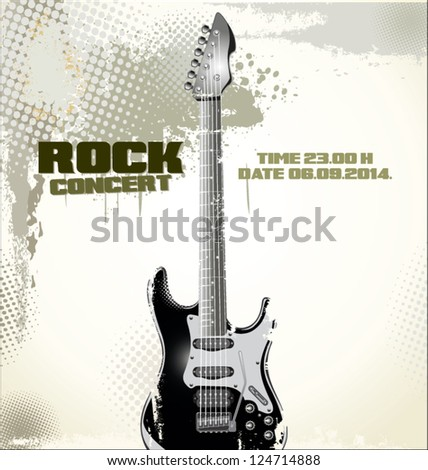 Grunge music background - stock vector