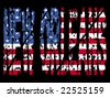 grunge New Orleans text with American flag illustration - stock photo