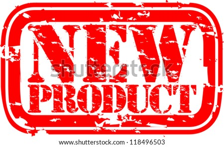 Grunge new product rubber stamp, illustration