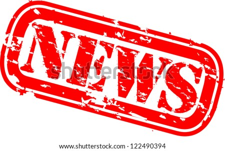 Grunge news rubber stamp,vector illustration - stock vector