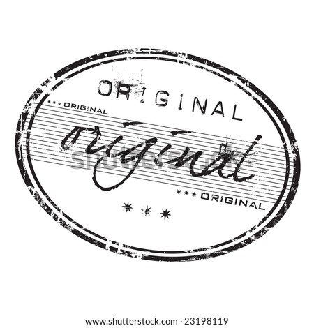 Grunge office rubber stamp with the word original written in various styles - stock vector