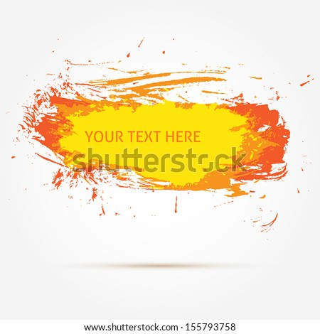 Grunge orange banner. Vector illustration - stock vector