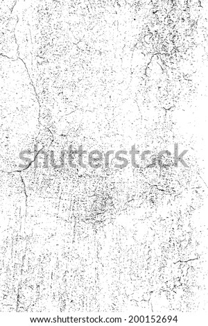 Grunge Overlay Texture - Cracked Plaster. EPS10 vector. - stock vector
