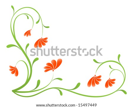 Grunge paint flower background, element for design. Vector-Illustration
