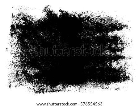 Grunge Paint Texture Distress Black Rough Stock Vector 576554563