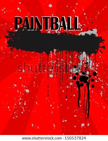 Grunge paintball banner. Eps 10  - stock vector