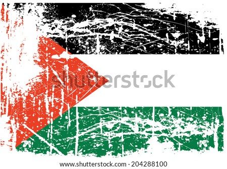 grunge Palestine flag of Gaza