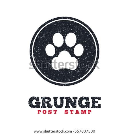Grunge post stamp circle banner label stock vector royalty free grunge post stamp circle banner or label dog paw sign icon pets symbol altavistaventures Images