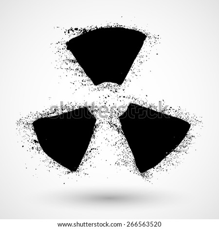 Grunge Radiation sign - stock vector