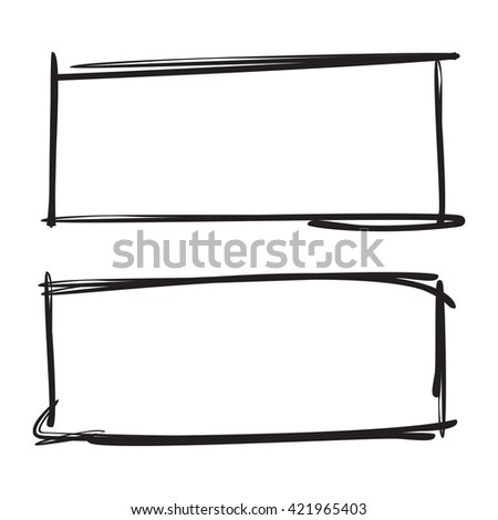 grunge rectangle frame set