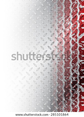 Grunge red tire brochure design with steel background  - stock vector