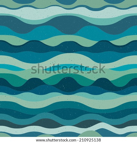 Grunge retro abstract background with waves