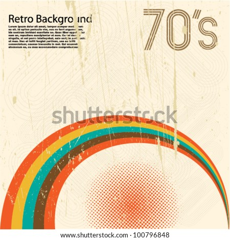 Grunge Retro Background - stock vector