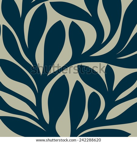 Grunge retro seamless pattern of colored leaves. EPS 10 vector illustration - stock vector
