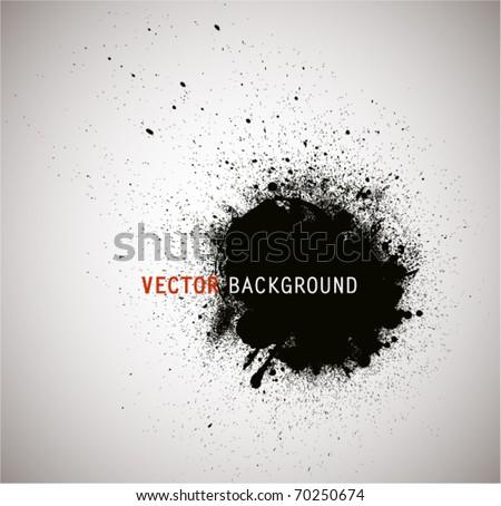 Grunge round banner. - stock vector
