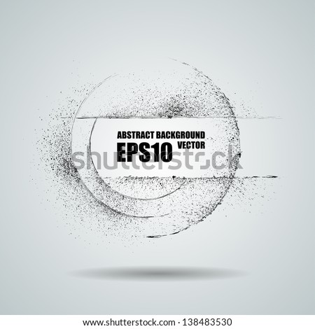 Grunge round banner. Abstract vector background - stock vector