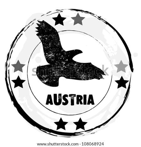 Grunge rubber stamp. Austria.vector illustration. - stock vector