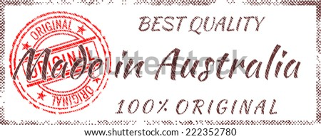 Grunge rubber stamp  Made in Australia - stock vector