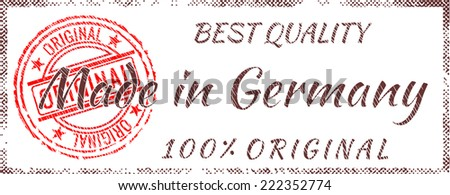 Grunge rubber stamp  Made in Germany - stock vector