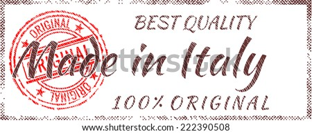 Grunge rubber stamp  Made in Italy - stock vector