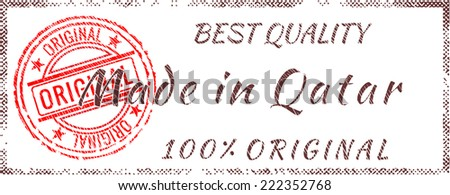 Grunge rubber stamp  Made in Qatar - stock vector