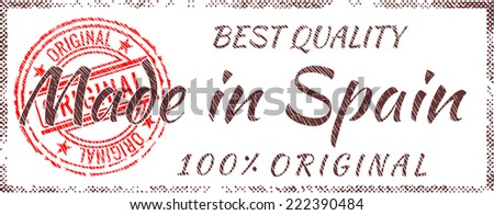 Grunge rubber stamp  Made in Spain - stock vector