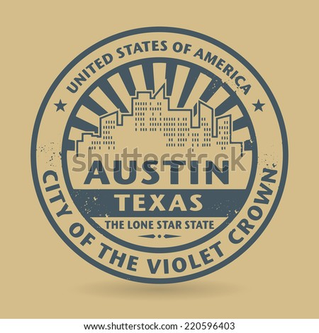 Grunge rubber stamp with name of Austin, Texas, vector illustration