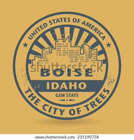 Grunge rubber stamp with name of Boise, Idaho, vector illustration - stock vector