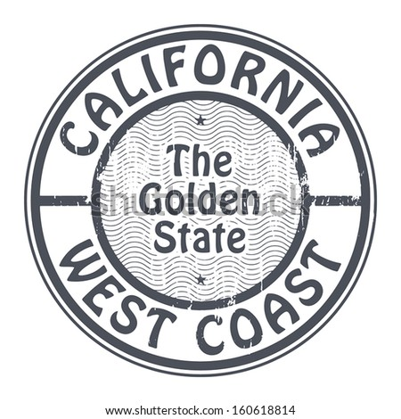 Grunge rubber stamp with name of California, West Coast, vector illustration - stock vector
