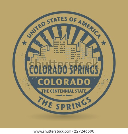 Grunge rubber stamp with name of Colorado Springs, Colorado, vector illustration - stock vector