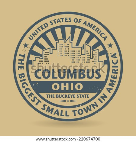 Grunge rubber stamp with name of Columbus, Ohio, vector illustration