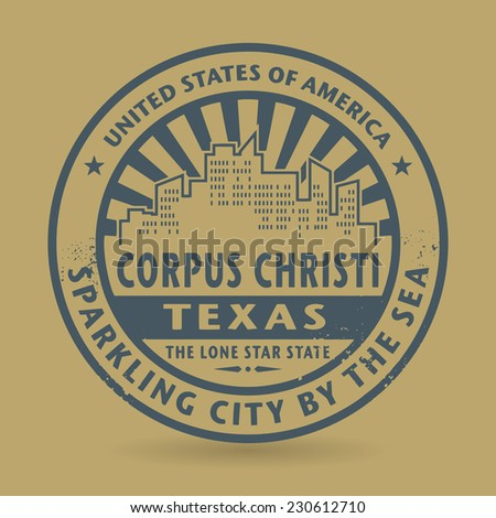 Grunge rubber stamp with name of Corpus Christi, Texas, vector illustration