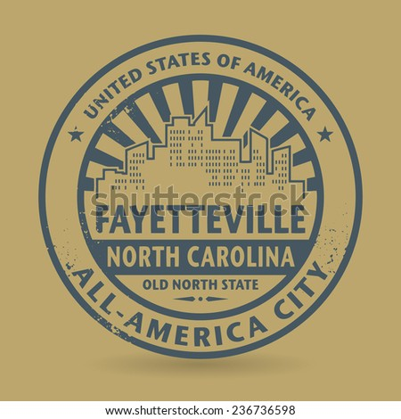 Grunge rubber stamp with name of Fayetteville, North Carolina, vector illustration