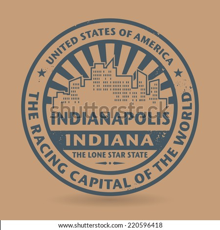 Grunge rubber stamp with name of Indianapolis, Indiana, vector illustration - stock vector