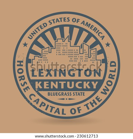 Grunge rubber stamp with name of Lexington, Kentucky, vector illustration