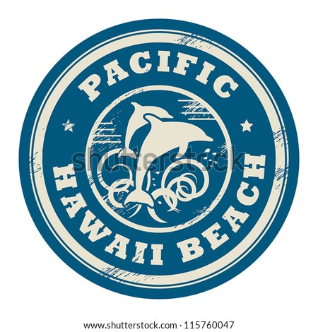 Grunge rubber stamp with name of Pacific, Hawaii, vector illustration