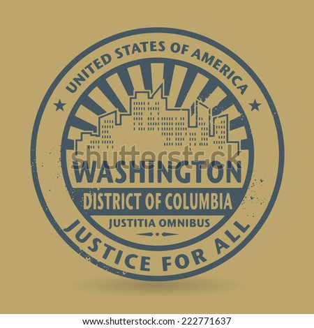 Grunge rubber stamp with name of Washington, District of Columbia vector illustration