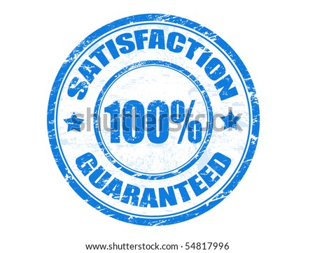 Grunge rubber stamp with small stars and the text satisfaction 100% guaranteed inside, vector illustration - stock vector