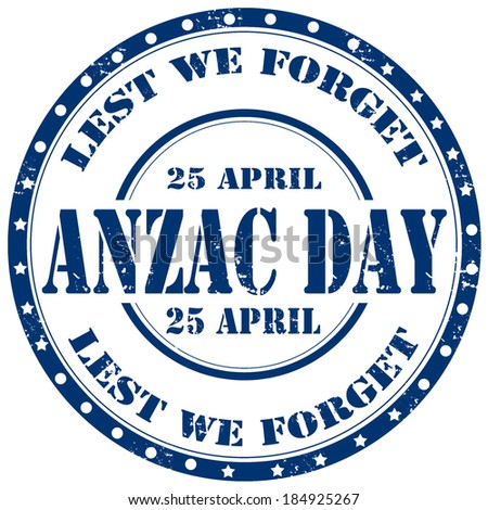 Grunge rubber stamp with text Anzac Day,vector illustration