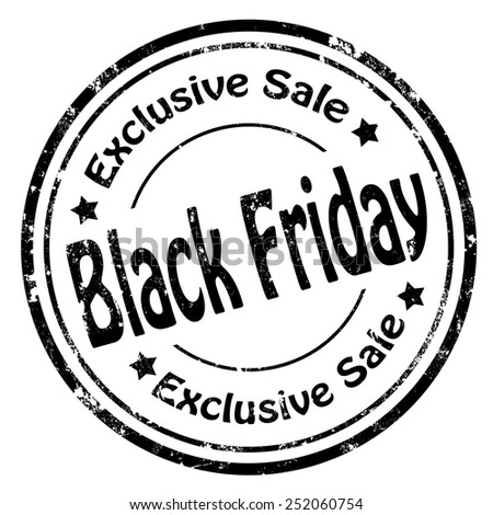 Grunge rubber stamp with text Black Friday-Exclusive Sale,vector illustration - stock vector