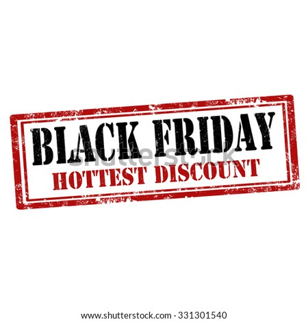 Grunge rubber stamp with text Black Friday-Hottest Discount,vector illustration - stock vector