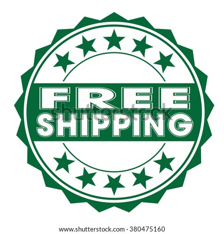 "grunge rubber stamp with text ""free shipping"" on white, vector illustration"